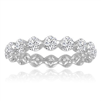 1.50 CTW Diamond Eternity Band in White Gold