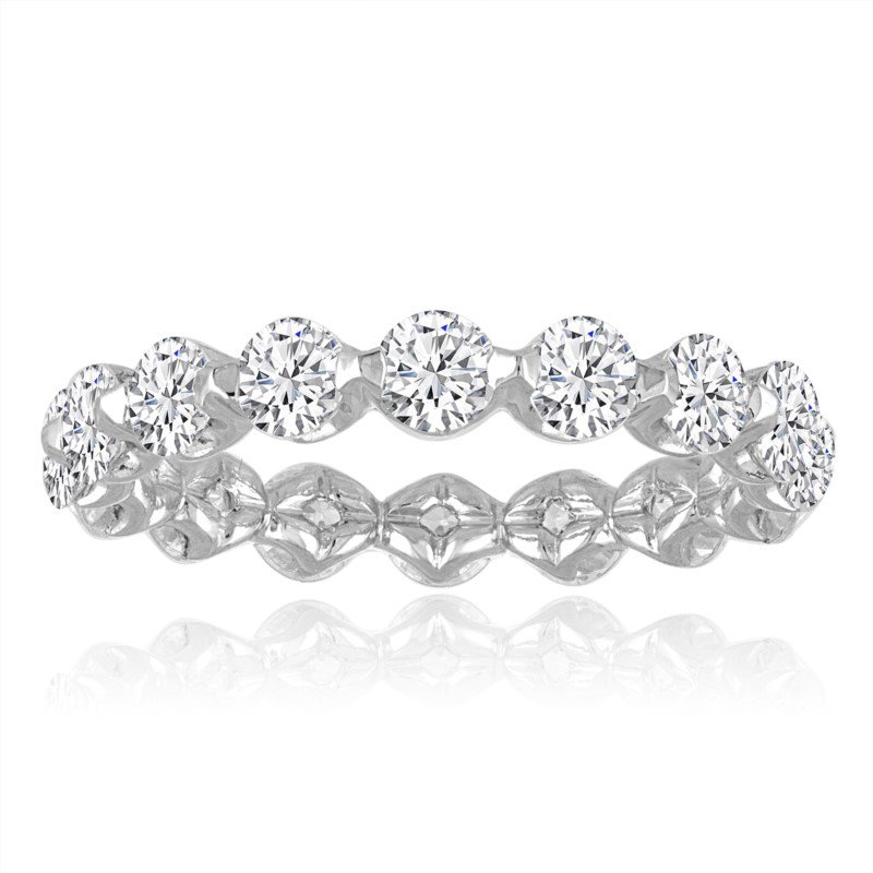 Imagine Bridal 1.50 CTW Diamond Eternity Band in White Gold