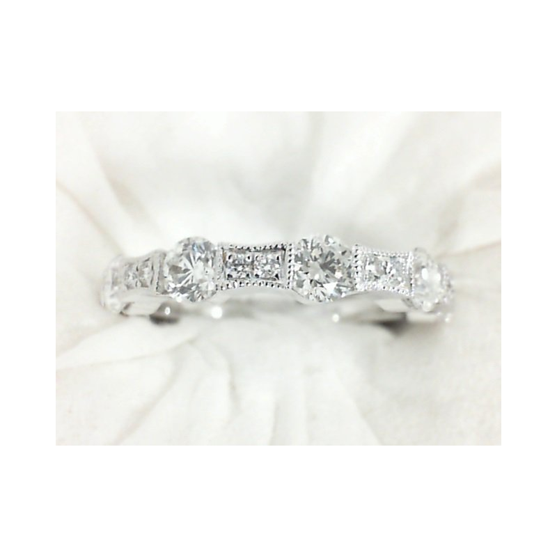 Imagine Bridal Unique Diamond Wedding Band in White Gold