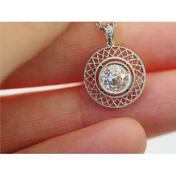 1.01 Carat F-VS2 Crown of Light Cut Diamond Pendant in Platinum