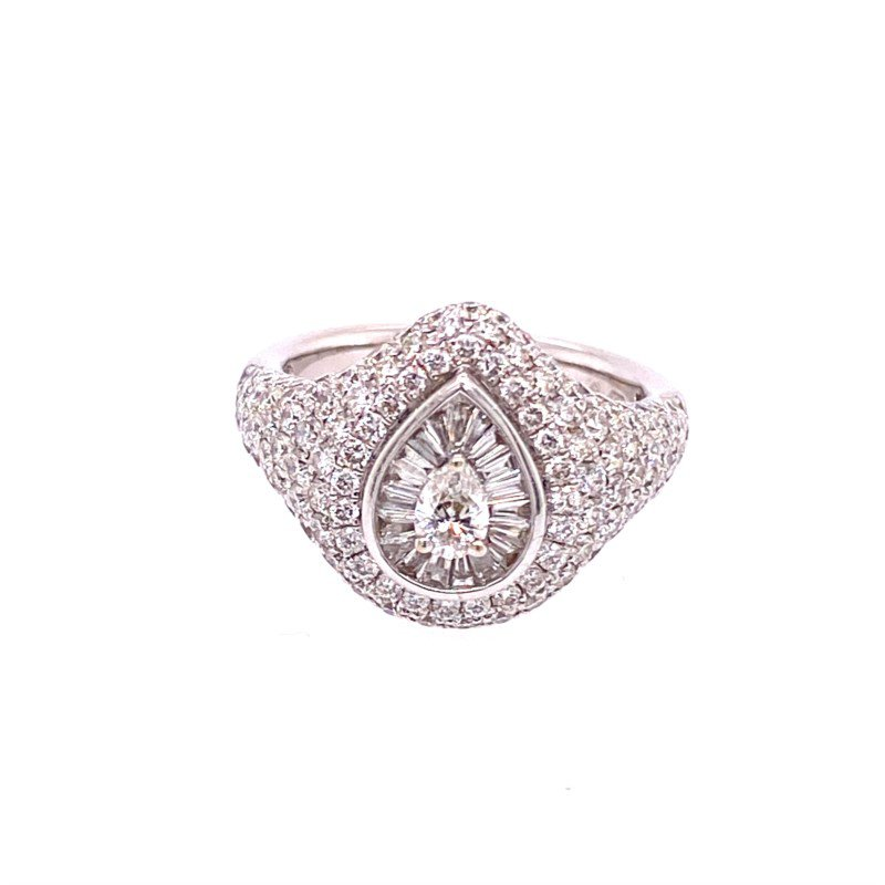 Jewels By Jacob Diamond Pave Ring in White Gold