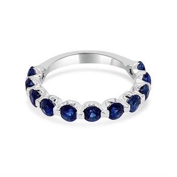 Sapphire Band in White Gold