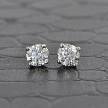0.46 Carat Diamond Stud Earrings
