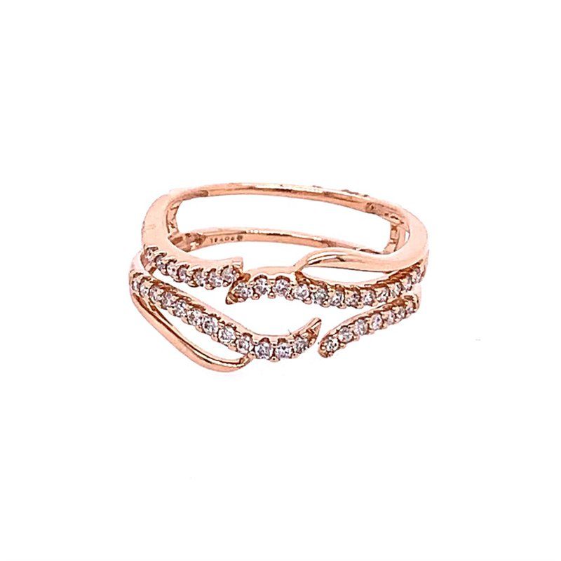 Royal Jewelry Rose Gold Diamond Ring Guard