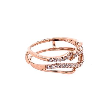 Rose Gold Diamond Ring Guard