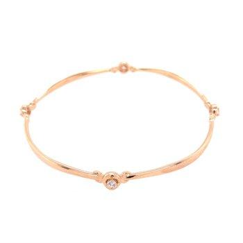Diamond Bangle in 18k Rose Gold