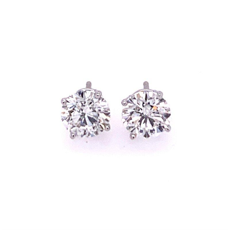 Diamonds Forever 1.70 CTW Round Brilliant Cut Diamond Stud Earrings