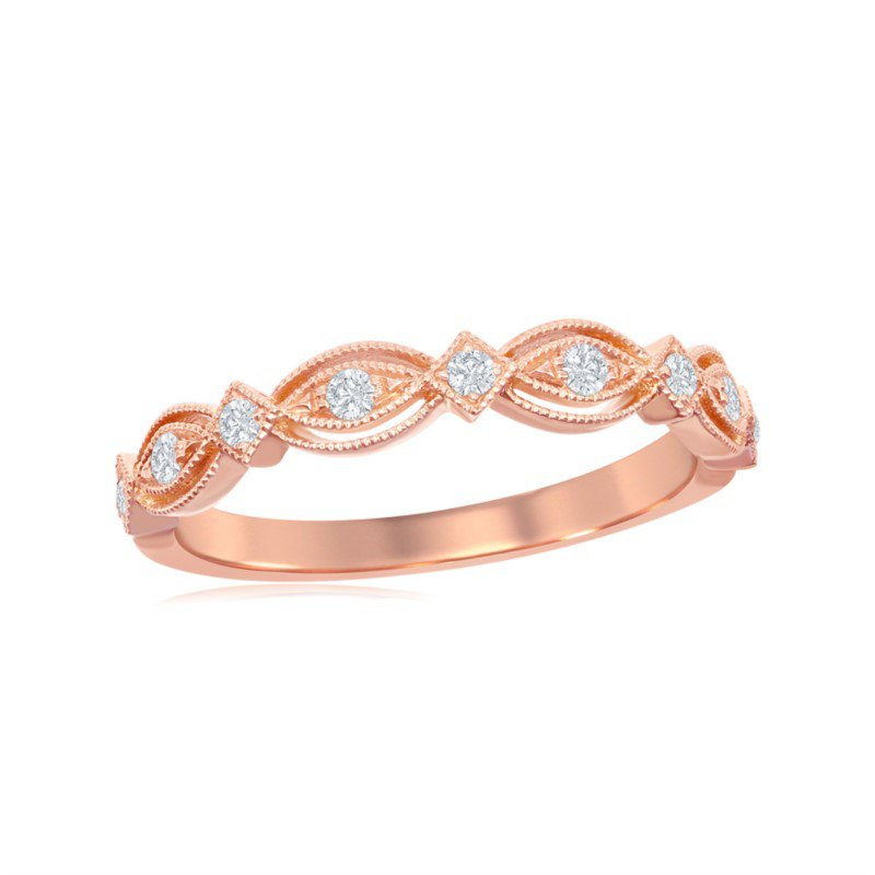 Jewels By Jacob Rose Gold Diamond Band