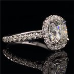 Perry's Estate Collection 2.01 Carat Cushion Cut Diamond Halo Engagement Ring
