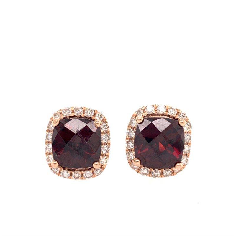 Effy Rhodolite Garnet and Diamond Earrings in Rose Gold