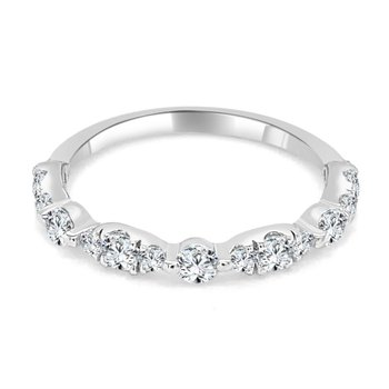 0.50 CTW Diamond Band in White Gold