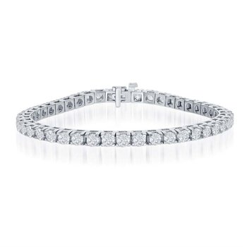 2.0 CTW Diamond Tennis Bracelet in White Gold