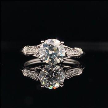 GIA 1.10 Carat VS2-K Old European Cut Diamond Engagement Ring