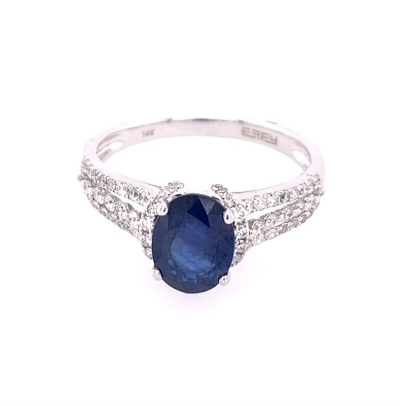 Effy Sapphire and Diamond Ring with Split Shank