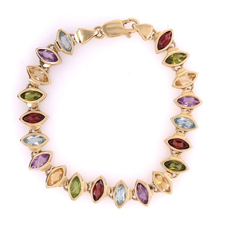Perry's Estate Collection Multi Gem Bracelet in Yellow Gold