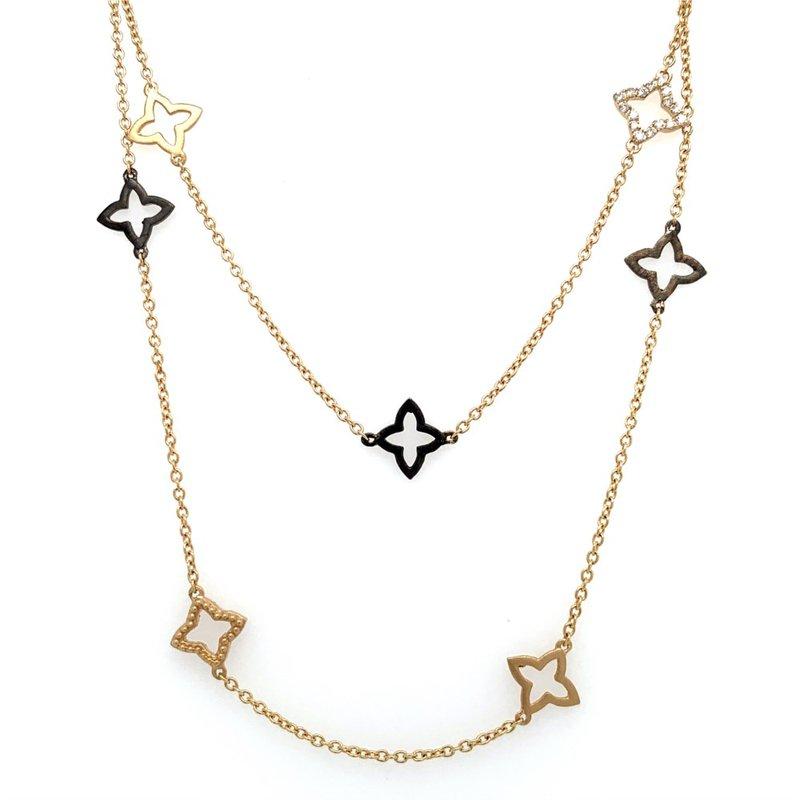 Beverley K Long 14K Yellow Gold & Diamond Necklace