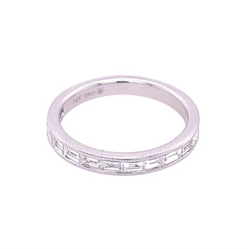 Baguette Cut Diamond Band in White Gold