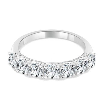 1.0 CTW Seven Diamond Band in White Gold