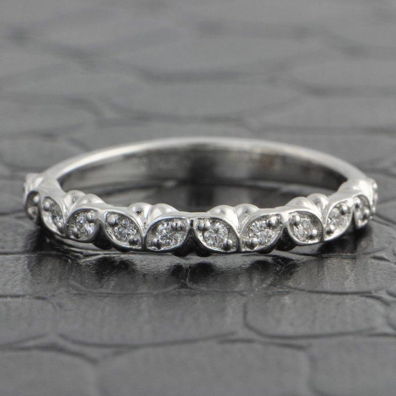 Pejay Creations Floral Diamond Wedding Band