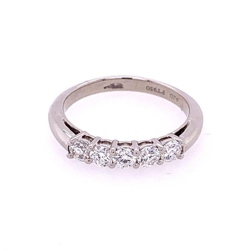 American Jewelry Designs .55 CTW Diamond Wedding Band in Platinum