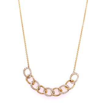 Interlocking Diamond and Gold Necklace