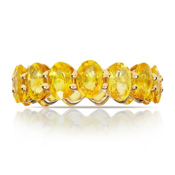 Yellow Sapphire Band in 18k Gold