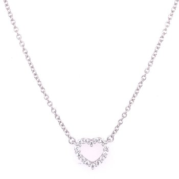 Diamond Heart Necklace in 18k Gold