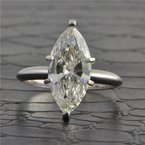 Perry's Estate Collection GIA 3.1 Carat I-SI2 Marquise Cut Diamond Engagement Ring