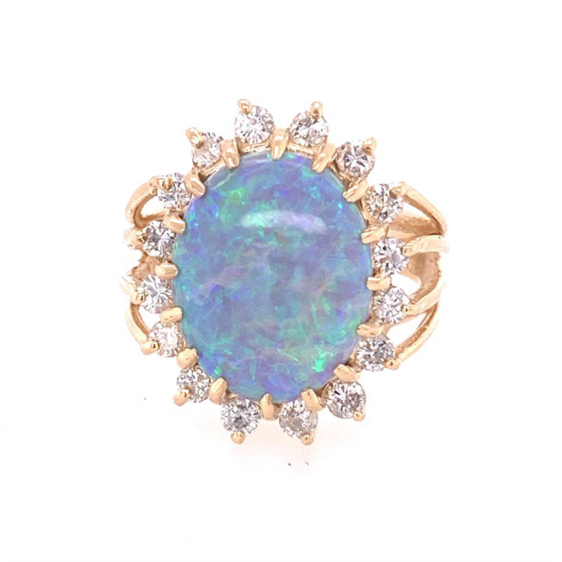Perry's Estate Collection Opal and Diamond Ring in Yellow Gold
