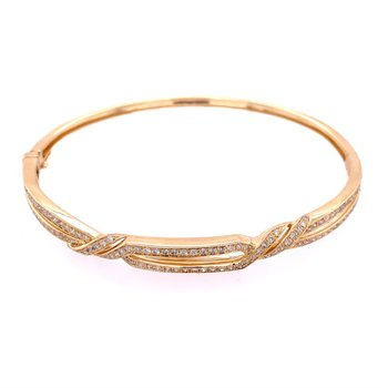 Diamond Bangle in Yellow Gold