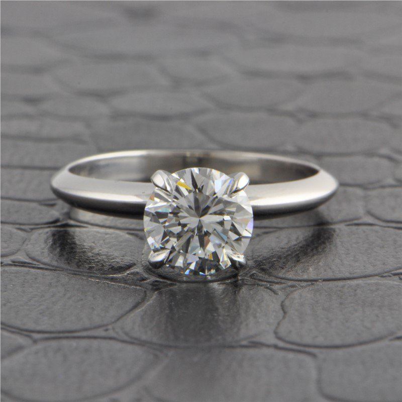 Perry's Estate Collection GIA 1.25 Carat F-VS2 Round Brilliant Cut Diamond Engagement Ring