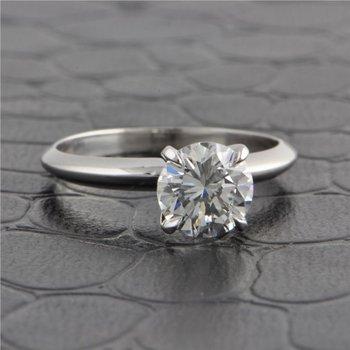 GIA 1.25 Carat F-VS2 Round Brilliant Cut Diamond Engagement Ring