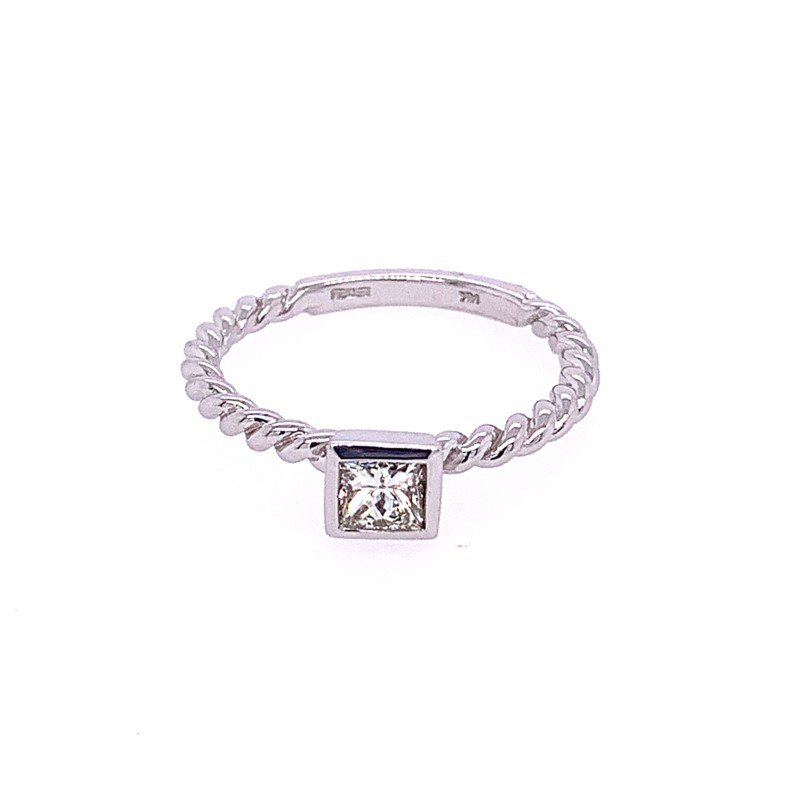 Effy .49 Carat Rope Style Diamond Ring in White Gold
