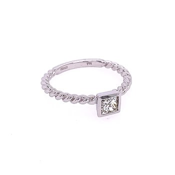 .49 Carat Rope Style Diamond Ring in White Gold
