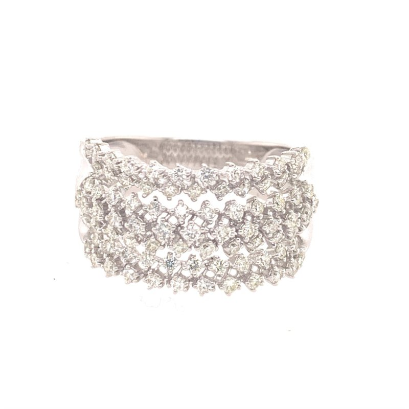 Effy Openwork Diamond Band in White Gold
