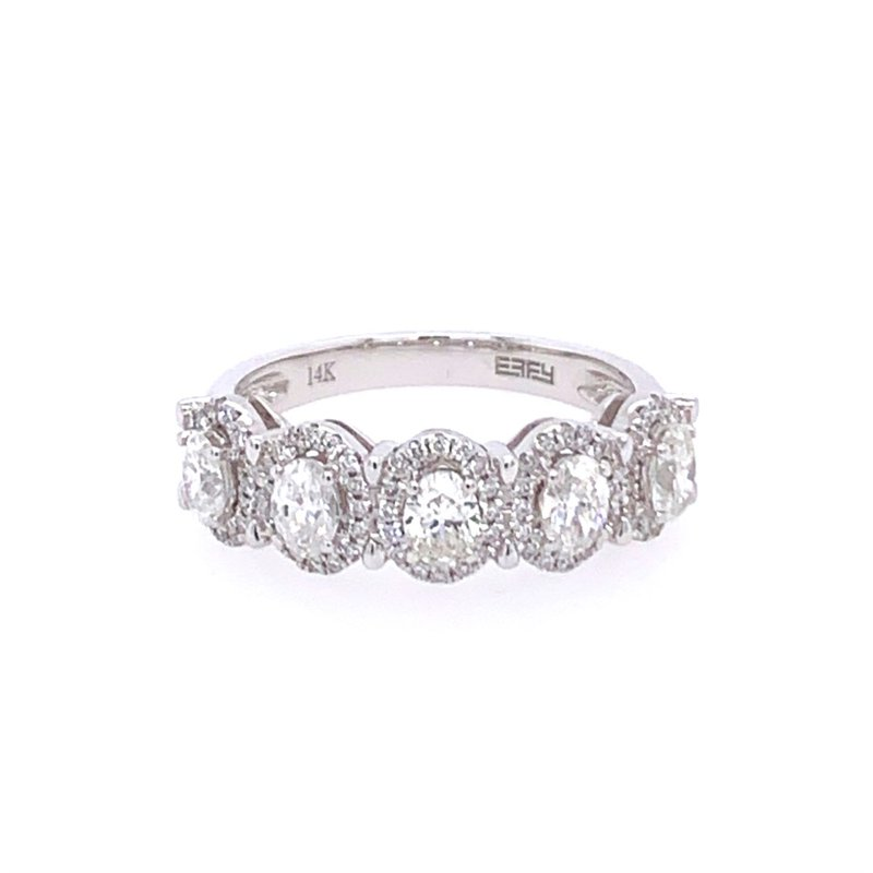 Effy Oval Cut Diamond Band in White Gold