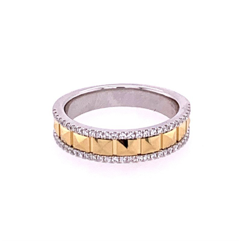 Pejay Creations Two Tone Facted Diamond Band