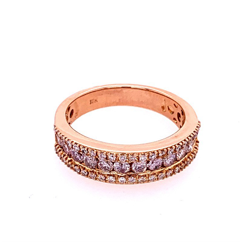 Perry's Estate Collection Light Pink Diamond Band in 18k Rose Gold