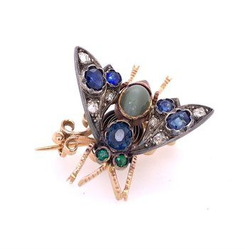 Antique Georgian Insect Pin in 15k Yellow Gold