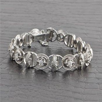 Jabel Diamond Link Bracelet in 18k White Gold