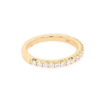 Diamond Wedding Band in Yellow Gold