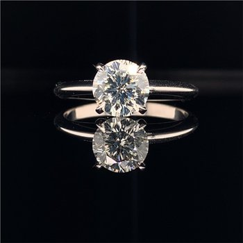 GIA 1.04 Carat Round Brilliant Cut Diamond Engagement Ring