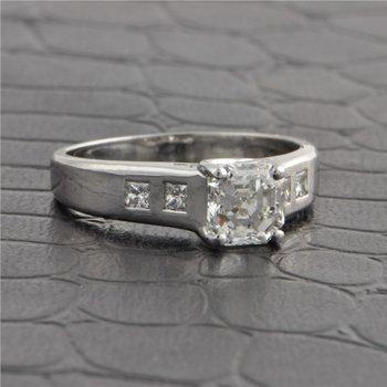 GIA 1.25 Carat I-VS1 Asscher Cut Diamond Engagement Ring in Platinum