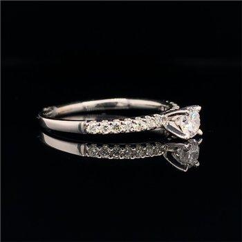 Dainty 0.26 Carat Round Brilliant Cut Diamond Engagement Ring