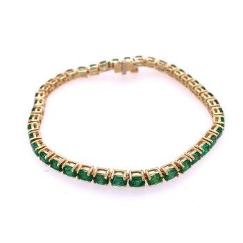 Emerald Bracelet in Yellow Gold
