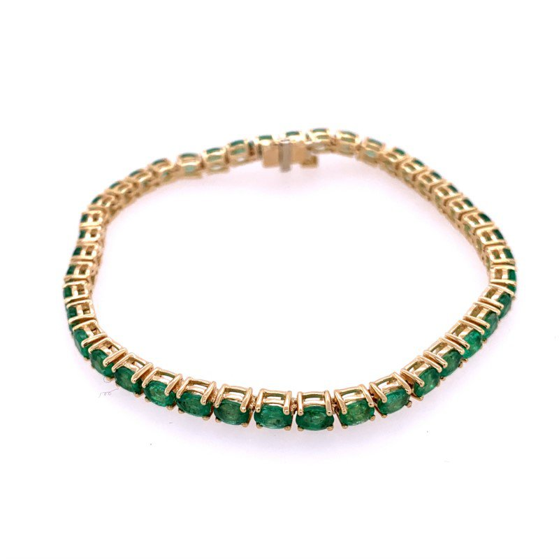 Effy Emerald Bracelet in Yellow Gold