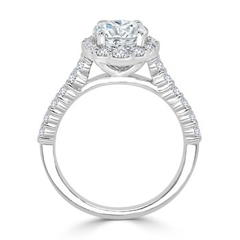 Diamond Semi Mount for Oval Cut Diamond