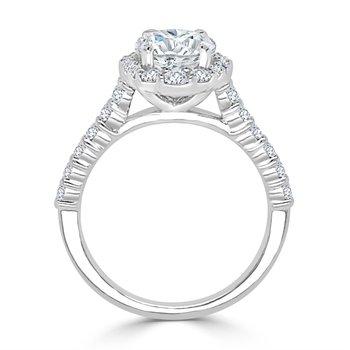 Diamond Semi Mount for Oval Cut Diamond