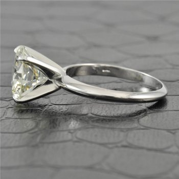 GIA 3.26 Carat L-VS1 Round Brilliant Cut Diamond Engagement Ring in White Gold