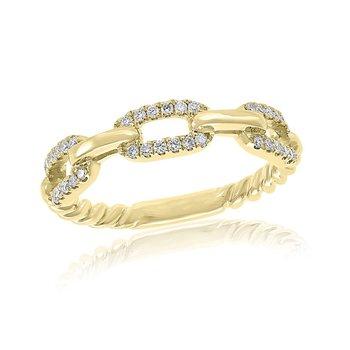 Diamond Band in Yellow Gold